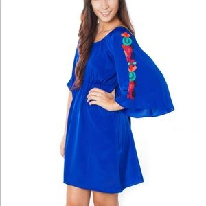 Anthro Judith March off shoulder embroidered dress